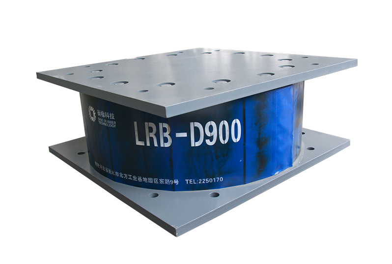 Building lead-core vibration isolation support