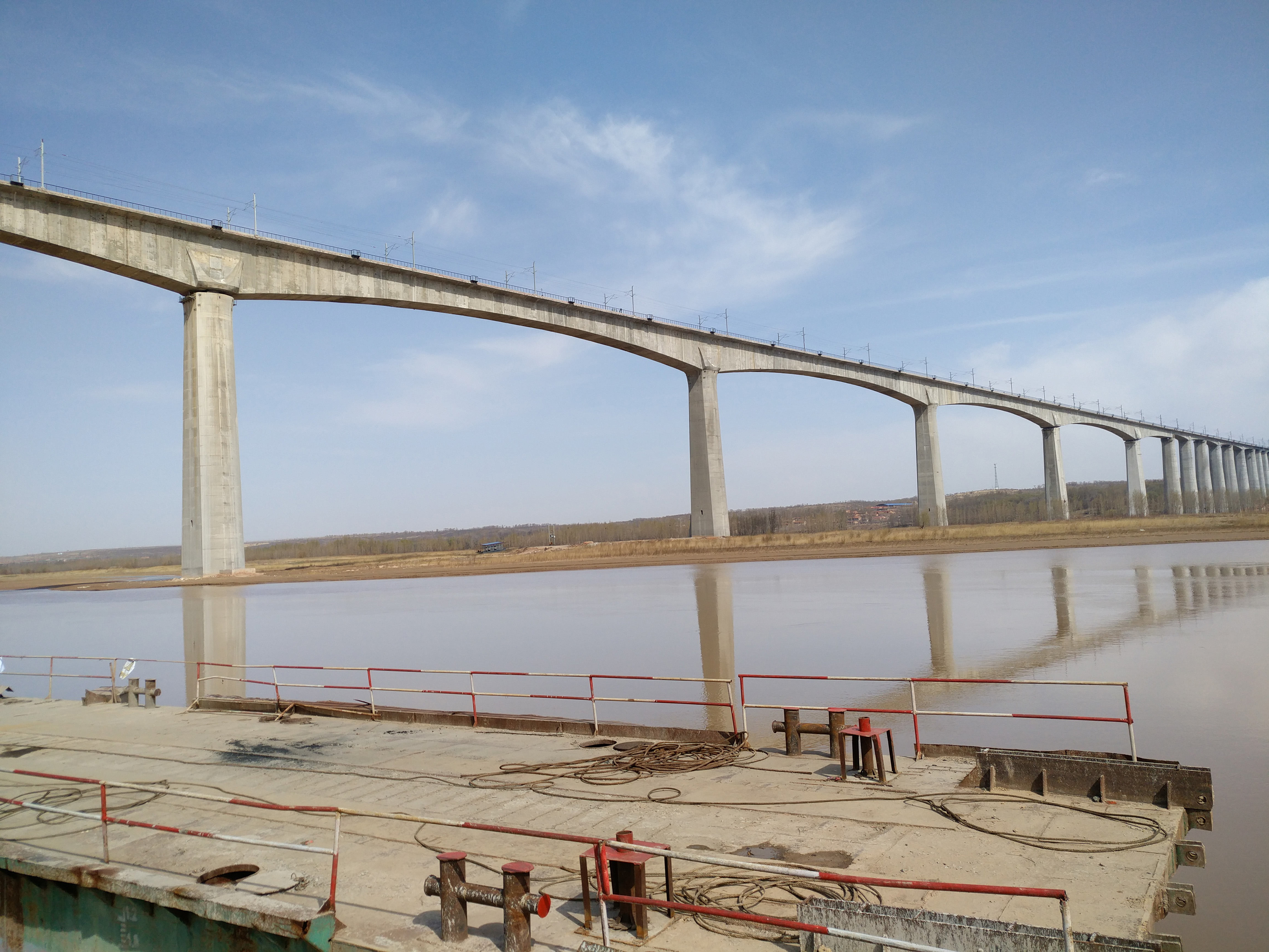 Hohhot-Jungar Banner Railway Dalu Yellow River Grand Bridge